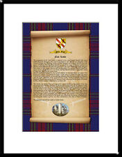 CLAN LESLIE - Clan History, Tartan, Crest, Castle & Motto MOUNTED PRESENTATION