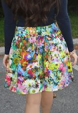 NEW NWT ZARA FLORAL FLOWER PRINT HIGH WAISTED TULIP MINI SKIRT L LARGE 12 8 36