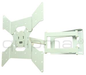 TV-Wandhalterung, quipma 328, schwenkbar, weiß, 26-46 Zoll, bis VESA 400, 37kg
