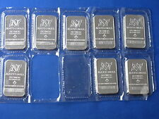 National Refiners 1 Oz Silver Bars Lot Of 8 New B5480