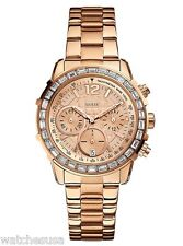Guess Women's U0016L5 Dazzling Sport Petite Stainless Steel Watch Rose Gold Tone
