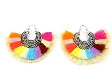 Tassel Earrings Oversize Hook Boho Dangle Drop Ethnic Tribal Bohemian Earring