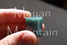 22 x 19 mm MAYAN MOUNTAIN BLUE/GREEN JEMMA JADEITE THICK JADE TUBE BEAD BLANKS