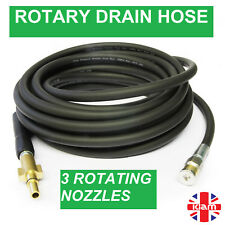 4m DRAIN CLEANING HOSE with ROTARY NOZZLE for MAKITA Pressure Jet Washer