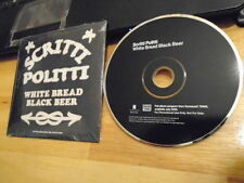 RARE PROMO Scritti Politti CD White Bread Black Beer GREEN GARTSIDE Boom Bap pop