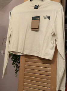 The North Face Cropped Long Sleeve Top Size Large