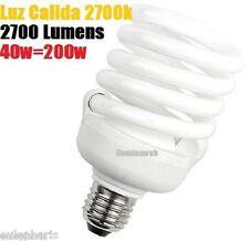 BOMBILLA Bajo Consumo CFL 40W E27 Luz Calida 2700K Floracion - 2700 Lumens 230v