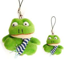 Bijoux de portable grenouille fantaisie verte écharpe bleu foncé idée cadeau