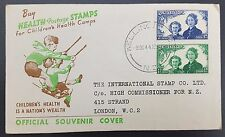 New Zealand 1944 Health Stamps Illustrated First Day Cover, Wellington Cancel