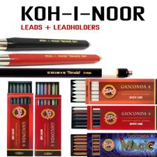 KOH-I-NOOR MECHANICAL LEADHOLDER 2B 5.6mm LEADS 6B SEPIA METALLIC MIX RUBBERS