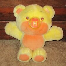VTG 1987 PLAYSKOOL NOSY BEARS SURPRISE JACK IN THE BOX NOSE ORANGE/YELLOW PLUSH