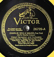 Lionel Hampton Charlie Was a Sailor 78 Swing Victor 26739 Martin on Every Block
