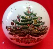VINTAGE SPODE CHRISTMAS TREE BALL ORNAMENT POMANDER POTPOURRI