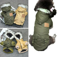 XS-XL Pet Puppy Dog Coat Winter Warm Chihuahua Jacket Vest Clothes Windproof