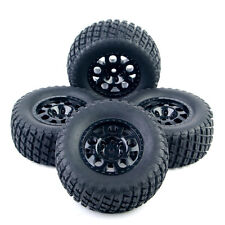 4X Short Course Tyre Ruber Tires Rims For TRAXXAS SLASH HPI HSP RC 1:10 Truck