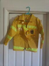 Fireman Chief Jacket Coat kids Halloween Costume Play One Size turnouts raincoat