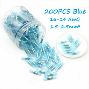 200Pcs Waterproof Heat Shrink Sleeve Wire Cable Crimp Seal Butt Connectors Kit