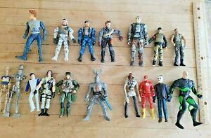 Mixed Lot of 16 Action Figures, Accessories, DC Comics, Lanard, Playmates more