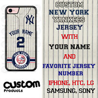 New York Yankees GY Personalize Baseball Jersey Phone Case Cover for iPhone etc.