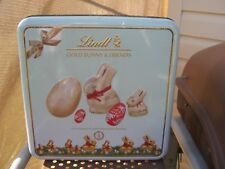 rare vintage tin collectable brand lindt chocolate gold bunny & friends largetin
