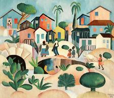 Morro da Favela  by Tarsila do Amaral  Giclee Canvas Print Repro