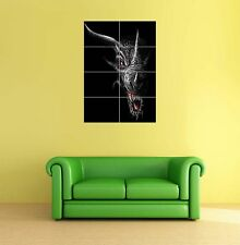 Scary Dragon Giant Picture Art Print Poster