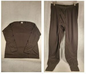 Browning Hunderwear Charcoal Mid-Weight X-Static Base Layer Top Pant Thermal Men
