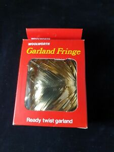 Vintage Christmas Woolworths Garland Fringe Decoration- Garland Twists