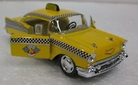 Diecast 1957 Chevrolet Bel-Air Taxi 1:40 Scale with Opening Doors And Pull Back
