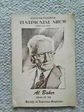 1944 Testimonial Show Program / Al Baker Dean of Society of American Magicians