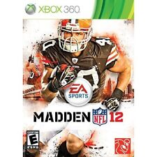 Madden NFL 12 For Xbox 360 Football With Manual And Case Very Good 0E