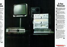 Publicité Advertising 028  1978   Thomson hi-fi tv  magnétoscope ( 2 pages)
