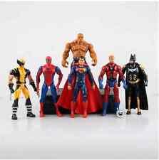 "New Lot 6 Marvel&DC The Avengers Movie 6.5"" Figure Set toys Gift Batman Superman"