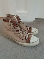 Converse All Star Canvas High Top Trainers Shoes Brown Size 6