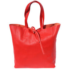 Shopping Bag Italian Genuine Leather Hand made in Italy Florence 9121 lr