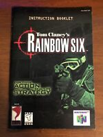 Tom Clancy's Rainbow Six N64 Instruction Booklet Manual ONLY