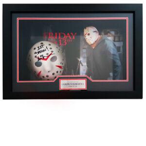 Friday the 13th Framed Signed Jason Mask
