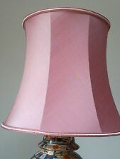 "VINTAGE LARGE SILK DRUM LAMP SHADE - 12"" TALL X 14 1/2"" BOTTOM/ 10 1/2"" TOP"