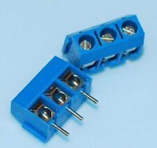 3 Pin Screw Terminal Block Connector 5mm Pitch x 4PCs