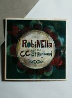 ROBINELLA AND THE CC STRINGBAND FLORAL 2x2 MUSIC STICKER