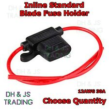 Standard Blade Fuse Holders - Splash proof In Line Fuse Holder Auto 30A 12AWG