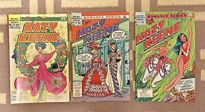 3 VINTAGE Archie Romance Series Comic Books: KATY KEENE #11, #12, #13 1985-1986