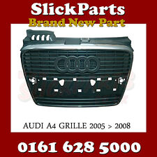 AUDI A4 GRILLE WITH CHROME FRAME 2005 2006 2007 2007 (NOT S-LINE) *NEW*