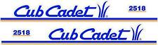 CUB CADET 2518 HOOD DECAL SET