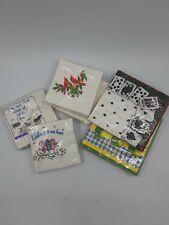 Lot of Vintage Novelty Bar Napkins Christmas Poker Night Paper Napkin Packs Lot