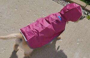 RC Pets Packable Rain Poncho Size Large Color Orchid (Pink)