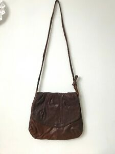 Brown Leather Cross Over Bag