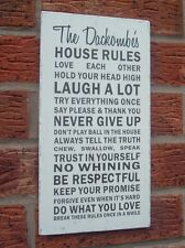House rules signs Personalised shabby vintage chic love each other plaques