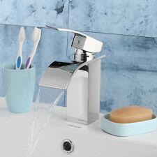 Modern Waterfall Mixer Taps Bathroom Basin Single Handle Vanity Sink Faucet Set