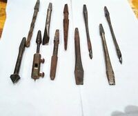 Vintage lot Of 10 Brace Bit Countersink, screwdriver, drill, & Reamer Bits